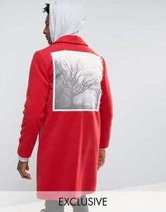 Пальто с накладкой сзади Reclaimed Vintage - Красный