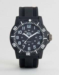 Черные часы с белыми указателями времени Slazenger - Черный