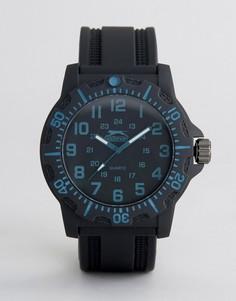 Черные часы с синими указателями времени Slazenger - Черный