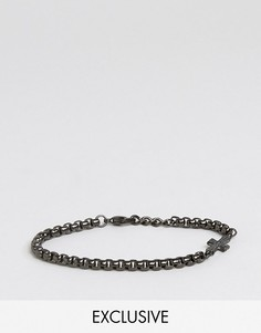 Черный браслет-цепочка с крестом Seven London эксклюзивно для ASOS - Черный