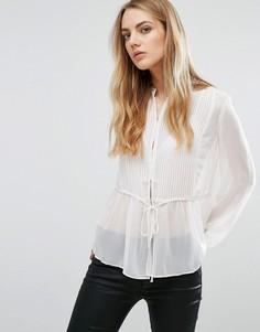 Прозрачная блузка Brave Soul - Кремовый
