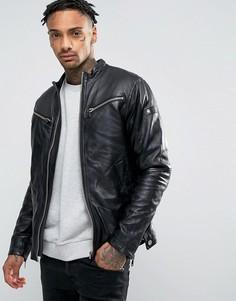 Кожаная куртка G-Star Mower - Черный