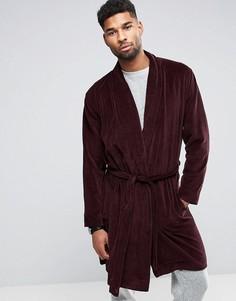 Велюровый халат ASOS - Красный