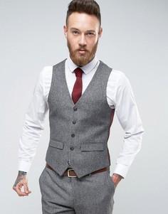 Узкий жилет Harry Brown - Серый