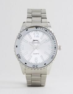 Классические серебристые часы Slazenger - Серебряный