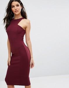 Платье миди из крепа Club L - Фиолетовый