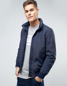 Нейлоновая куртка-пилот со скрытым капюшоном Tommy Hilfiger Rick - Темно-синий