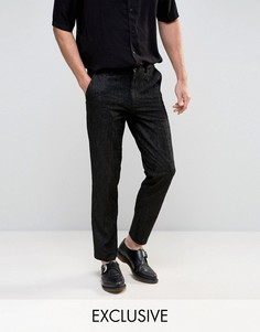 Кружевные брюки Reclaimed Vintage - Черный