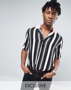 Классическая рубашка в полоску с отложным воротником Reclaimed Vintage - Черный