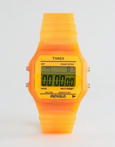 Оранжевые цифровые часы Timex - Оранжевый