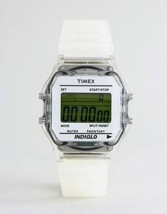 Белые цифровые часы Timex - Белый
