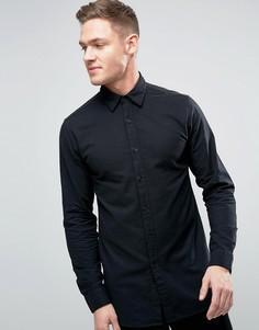 Длинная рубашка с начесом Jack & Jones Premium - Черный