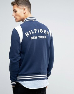 Куртка-пилот из ткани пике с логотипом Tommy Hilfiger Brad Varsity - Темно-синий