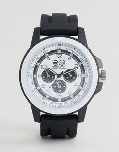 Черные часы с белым циферблатом Crosshatch - Черный