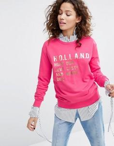 Свитшот с длинными рукавами H! By Henry Holland Holland - Розовый
