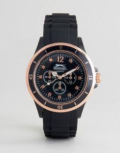 Черные часы с дополнительными циферблатами Slazenger - Черный