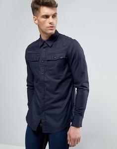 Узкая рубашка с длинными рукавами G-Star 3301 - Темно-синий