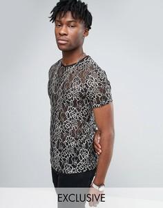 Кружевная футболка Reclaimed Vintage - Черный