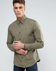 Узкая рубашка с длинными рукавами G-Star - Зеленый