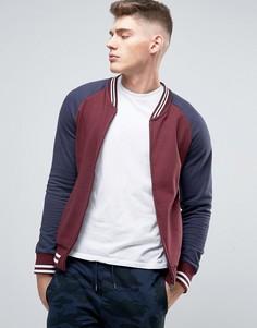 Трикотажная бейсбольная куртка на молнии Brave Soul - Красный