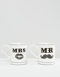 Набор кружек Sass & Belle Mr & Mrs - Мульти