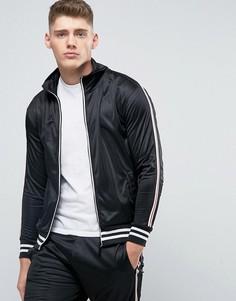 Спортивная куртка на молнии в винтажном стиле Brave Soul - Черный