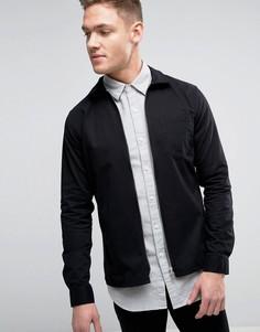 Куртка слим на молнии премиум-класса Jack & Jones - Черный