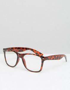 Очки с прозрачными стеклами 7X - Коричневый