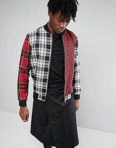 Куртка-пилот в клетку тартан Reclaimed Vintage - Черный