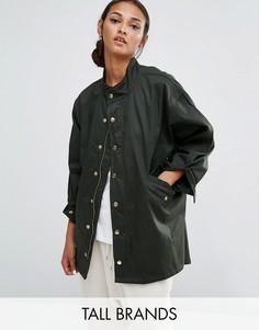 Свободная куртка в стиле милитари Daisy Street Tall - Зеленый