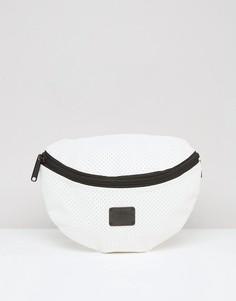 Белая сумка-кошелек на пояс с перфорацией Spiral - Белый