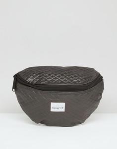 Черная стеганая сумка-кошелек на пояс Spiral - Черный