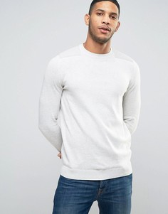 Джемпер овсяного цвета с нашивками New Look - Кремовый