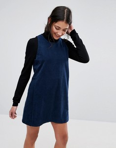Вельветовое платье с квадратной проймой Native Youth - Темно-синий