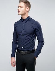 Строгая рубашка скинни Selected Homme - Темно-синий