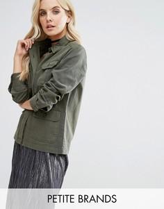 Куртка милитари Miss Selfridge Petite - Зеленый