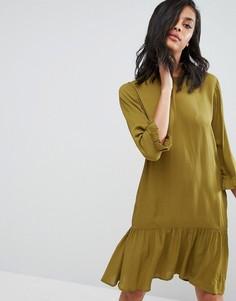 Платье с баской Minimum - Зеленый