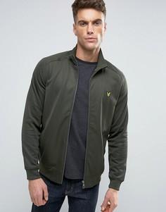 Зеленая куртка с высоким воротником и логотипом Lyle & Scott - Зеленый