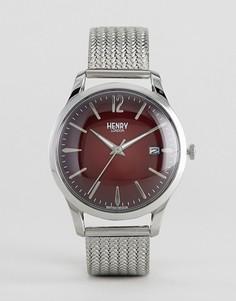 Серебристые часы с сетчатым браслетом Henry London Chancery - Серебряный