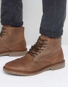 Утепленные кожаные ботинки Jack & Jones Gobi - Коричневый