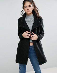 Шерстяное пальто Only New Sophia - Черный