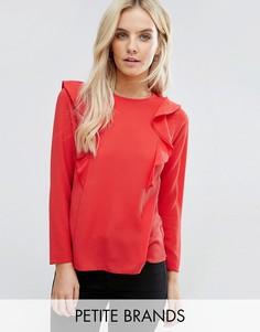 Блузка с оборками New Look Petite - Красный