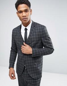 Пиджак скинни в клетку Jack & Jones Premium - Серый