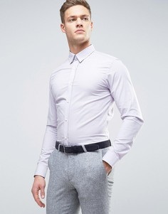 Строгая рубашка скинни Selected Homme - Серый