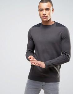 Темно-серый джемпер с нашивками New Look - Серый