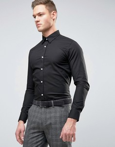 Приталенная рубашка Selected Homme - Черный