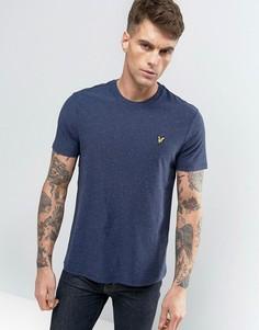 Темно-синяя футболка классического кроя с логотипом Lyle & Scott - Темно-синий