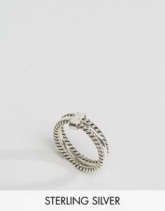 Тройное серебряное кольцо Kingsley Ryan - Серебряный