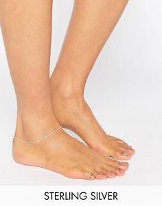 Тонкий серебряный браслет на ногу Kingsley Ryan - Серебряный