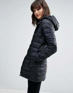 Облегающая стеганая куртка с капюшоном JDY Mash - Черный